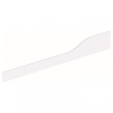 Geberit Bambini decorative cover, front, for play and washspace, for three washbasin taps, lower basin on the left: white alpine