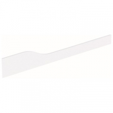 Geberit Bambini decorative cover, front, for play and washspace, for three washbasin taps, lower basin on the right: white alpine