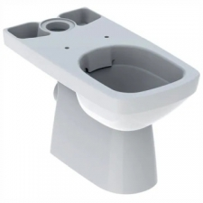 Geberit Selnova Square floor-standing WC for close-coupled exposed cistern, washdown, square design, semi-shrouded, Rimfree: T=68cm