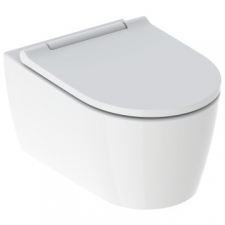 Geberit ONE wall-hung WC, washdown, shrouded, TurboFlush, with WC seat