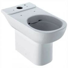 Geberit Smyle floor-standing WC for close-coupled exposed cistern, washdown, semi-shrouded, Rimfree: T=64cm, white