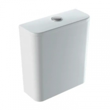 Geberit Smyle Square exposed cistern, close-coupled, dual flush, bottom water supply connection: white