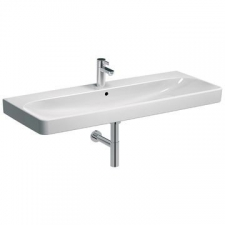 Geberit - Smyle Vanity Basin Square with Centre Tap Hole 1200mm x 480mm White