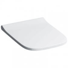 Geberit Smyle Square WC seat, slim design: Soft-closing mechanism =yes, Quick-release hinges=no, Fastening=from above, white