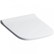 Geberit Smyle Square WC seat, slim design: Soft-closing mechanism =no, Quick-release hinges=no, Fastening=from above, white