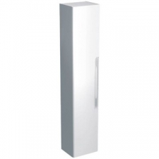 Geberit - Smyle Cabinet Tall W/Hung w/ 1 Door & Internal Mirror 1800x360x324mm Light Grey