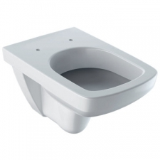 Geberit Selnova / Abalona Square wall-hung WC, washdown: white