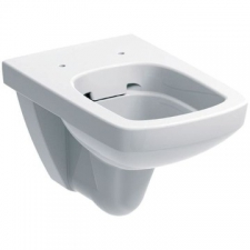 Geberit Selnova / Abalona Square wall-hung WC, washdown, Rimfree: white