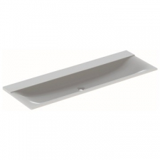 Geberit Xeno² vanity basin: B=140cm, T=48cm, Tap hole=without, Overflow=without, white alpine
