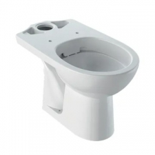 Geberit Selnova floor-standing WC for close-coupled exposed cistern, washdown, horizontal outlet, Rimfree: white