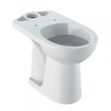 Geberit Selnova Comfort floor-standing WC for close-coupled exposed cistern, washdown, horizontal outlet, raised: white