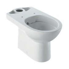 Geberit Selnova floor-standing WC for close-coupled exposed cistern, washdown, horizontal outlet, semi-shrouded, Rimfree: white
