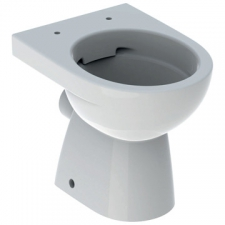 Geberit Selnova floor-standing WC, washdown, horizontal outlet, semi-shrouded, Rimfree