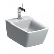 Geberit Xeno² wall-hung bidet, shrouded: T=54cm, Overflow=without, white / KeraTect