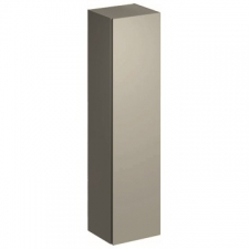 Geberit Xeno² tall cabinet with one door and internal mirror: B=40cm, H=170cm, T=35.1cm, greige / matt coated