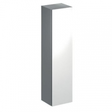Geberit Xeno² tall cabinet with one door and internal mirror: B=40cm, H=170cm, T=35.1cm, white / high-gloss coated