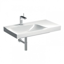 Geberit Xeno² washbasin with shelf surface: B=90cm, T=48cm, Tap hole=centred, Overflow=without, Shelf space=right, KeraTect / white