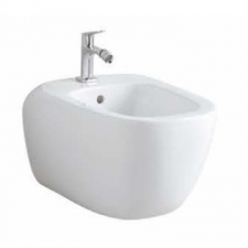 Geberit Citterio wall-hung bidet, shrouded: T=56cm, Overflow=visible, white / KeraTect