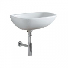 Geberit Citterio lay-on washbasin: B=56cm, T=40cm, Tap hole=without, Overflow=without, white / KeraTect