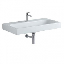 Geberit Citterio washbasin: B=90cm, T=50cm, Tap hole=centred, Overflow=without, white / KeraTect