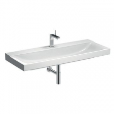 Geberit Xeno² washbasin: B=120cm, T=48cm, Tap hole=centred, Overflow=without, KeraTect / white