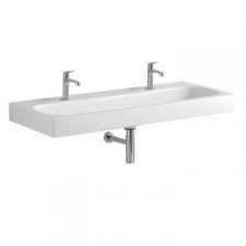 Geberit Citterio washbasin: B=120cm, T=50cm, Tap hole=left and right, Overflow=without, white / KeraTect