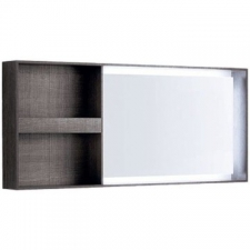 Geberit Citterio illuminated mirror, lateral storage shelf: B=133.4cm, H=58.4cm