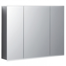 Geberit Option Plus mirror cabinet with lighting and three doors: B=120cm, H=70cm, T=17.2cm, Plug type=CEE 7/16, outside mirrored, inside and outside mirrored