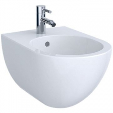 Geberit Acanto wall-hung bidet, shrouded: T=51cm, Overflow=visible, white