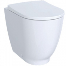 Geberit Acanto floor-standing WC, washdown, raised, back-to-wall, shrouded, Rimfree: T=51cm, white