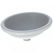 Geberit VariForm under-countertop washbasin, oval: B1=42cm, T=42cm, Overflow=without, white