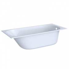 Geberit rectangular bathtub Soana, slim rim, with feet: L=160cm, B=70cm