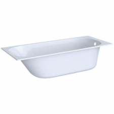 Geberit rectangular bathtub Soana, slim rim, with feet: L=170cm, B=70cm