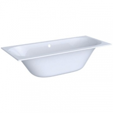 Geberit rectangular bathtub Soana, slim rim, duo, with feet: L=170cm, B=75cm