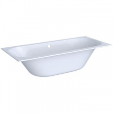 Geberit rectangular bathtub Soana, slim rim, duo, with feet: L=180cm, B=80cm