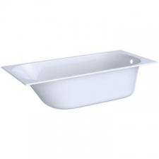 Geberit rectangular bathtub Soana, slim rim, with feet: L=170cm, B=75cm