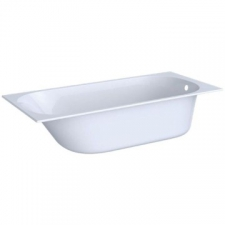 Geberit rectangular bathtub Soana, slim rim, with feet: L=180cm, B=80cm