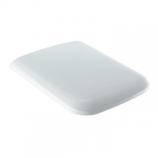 Geberit iCon Square WC seat: Soft-closing mechanism =no, Fastening=from above, white