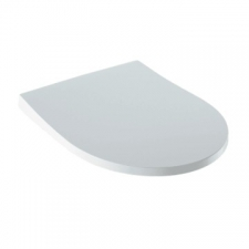 Geberit iCon WC seat, slim design: Soft-closing mechanism =yes, Quick-release hinges=no, Fastening=from above, white
