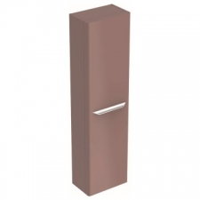 Geberit myDay tall cabinet with one door: B=40cm, H=150cm, T=27.5cm, taupe / high-gloss