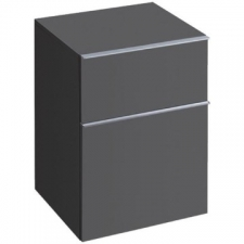 Geberit iCon low cabinet with two drawers: B=45cm, H=60cm, T=47.7cm, matt coated / lava