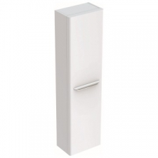 Geberit myDay tall cabinet with one door: B=40cm, H=150cm, T=27.5cm, white / high-gloss coated