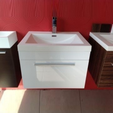 Gio Plumbing - Ancona 600 Cupboard and Basin White