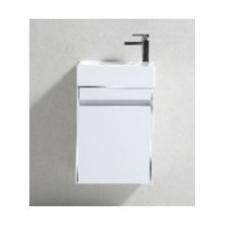 Gio Plumbing - Simplicity 460 Slimline Cupboard & Basin White