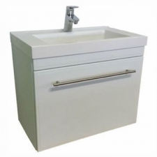 Hammonds - Madeira 600 Wall-Hung Vanity Cabinet & Basin w/ Drawer White