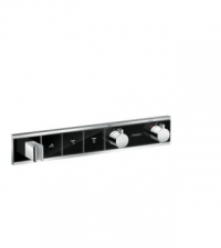 Hansgrohe - RainSelect Finish Set For Concealed Installation For 3 Outlets Black/Chrome