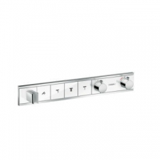 Hansgrohe - RainSelect Finish Set For Concealed Installation For 4 Outlets White/Chrome