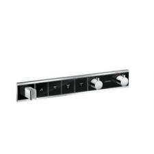 Hansgrohe - RainSelect Finish Set For Concealed Installation For 4 Outlets Black/Chrome
