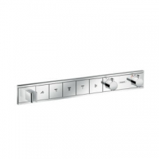 Hansgrohe - RainSelect Finish Set For Concealed Installation For 5 Outlets Chrome