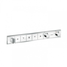 Hansgrohe - RainSelect Finish Set For Concealed Installation For 5 Outlets White/Chrome